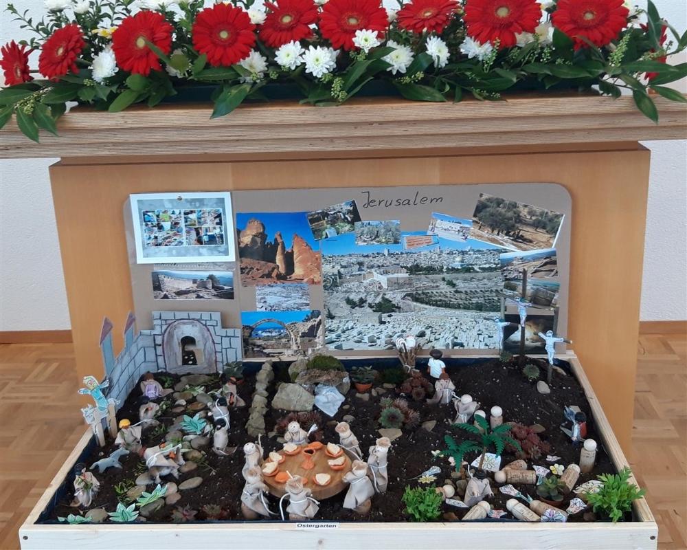 Kinder Bauen Ostergarten Neuapostolische Kirche Kirchenbezirk Heilbronn