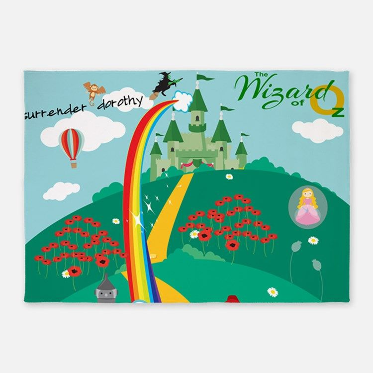 Wonderful Wizard Of Oz 5 X7 Area Rug For
