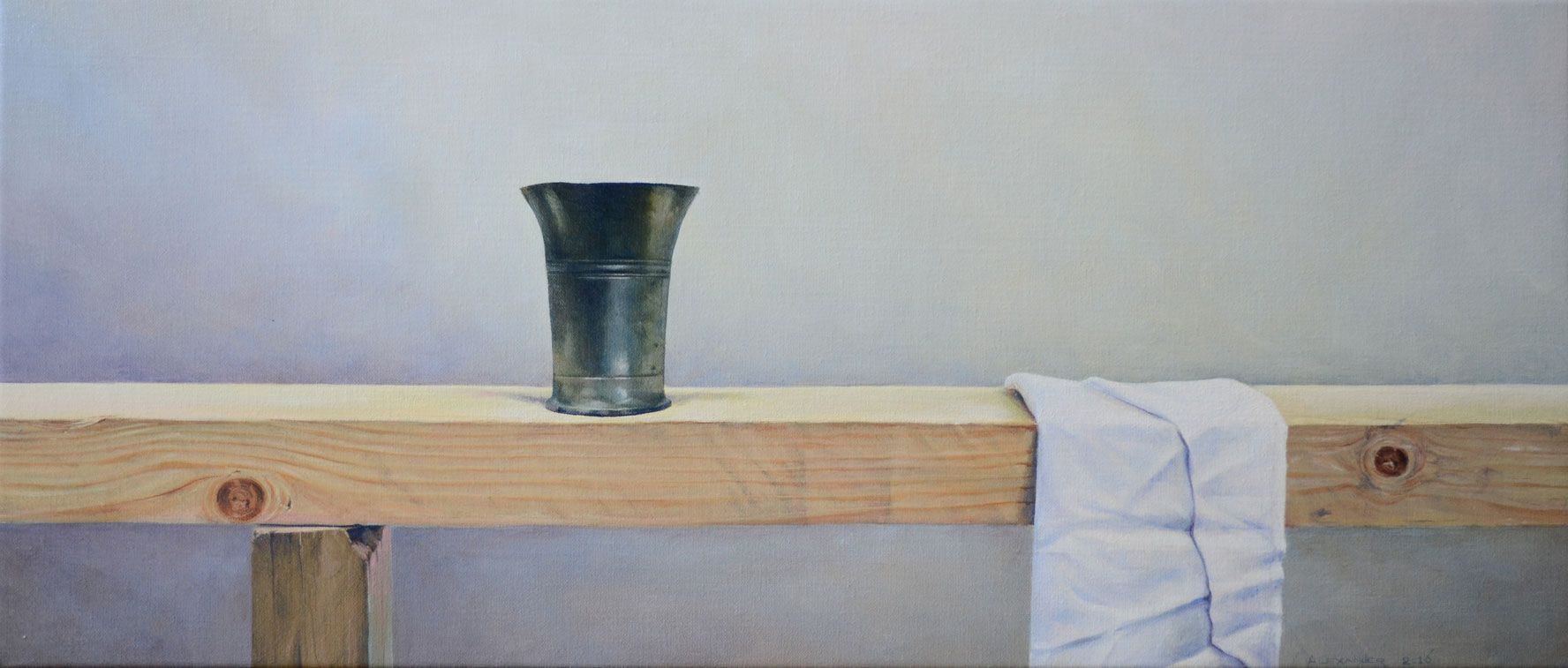 The Last Supper 30 X 70 cm.  oil on linen. Available