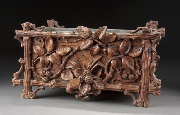 732 Swiss Carved Black Forest Fernery On Wood Carving Pinterest