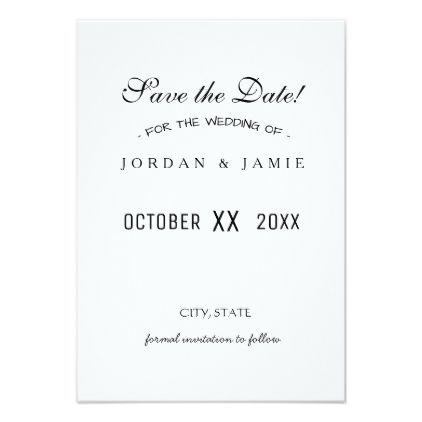 Save the date template - invitations personalize custom special - event card template