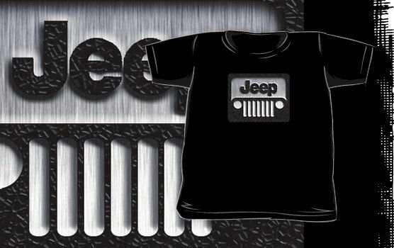 Steampunk Classic Jeep Wrangler logo 2 Kids and Baby T