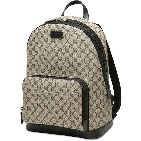 gucci book bags for men. gucci men gg supreme print backpack ($1,060) ❤ liked on polyvore featuring men\u0027s fashion book bags for c