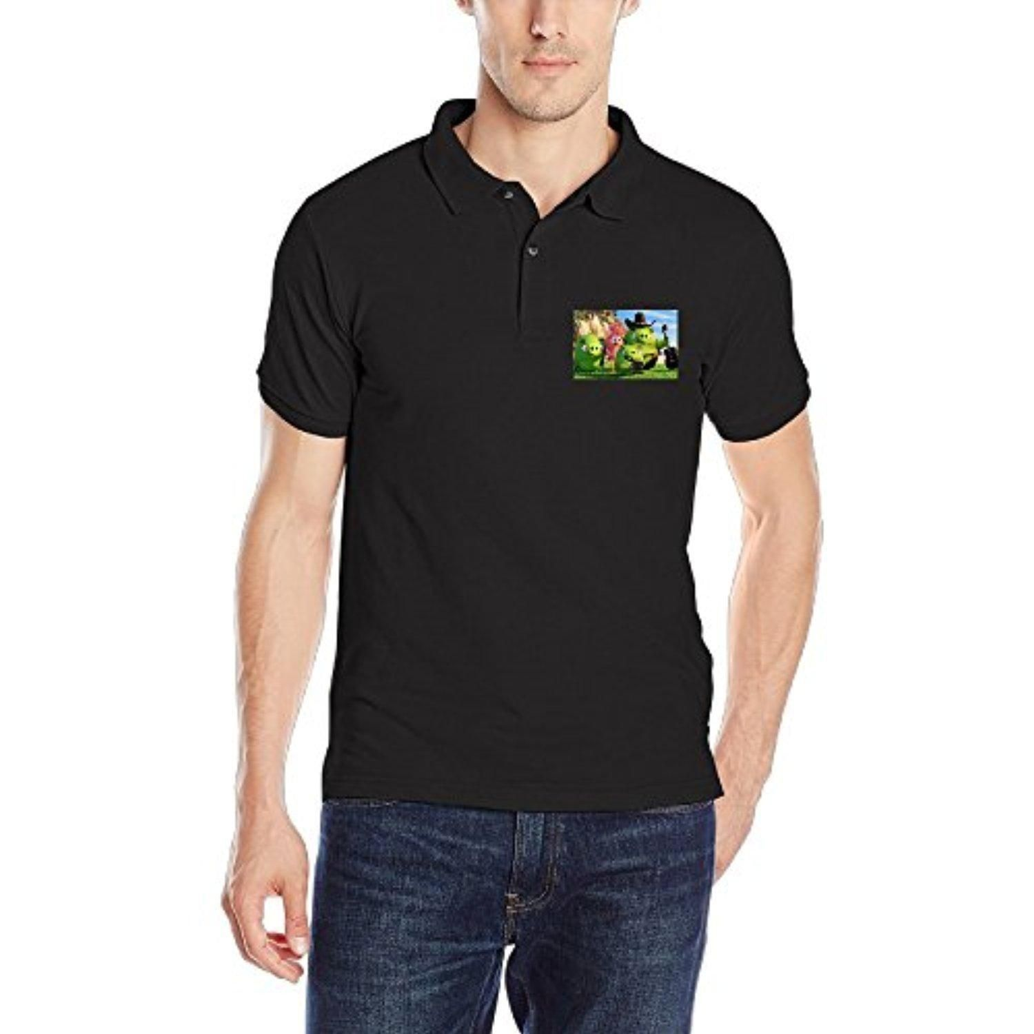 FCOH Men's Short Sleeve Tee Polo T Shirt Angry B Black S. - Brought to you by Avarsha.com