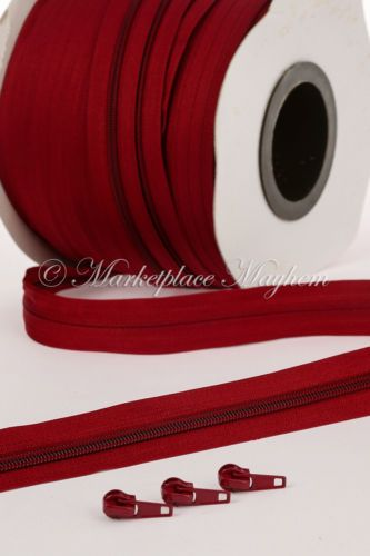 CONTINUOUS CHAIN ZIP / ZIPPING - UPHOLSTERY - NUMBER N3 - N5 - 5 METRES OR 100M   eBay