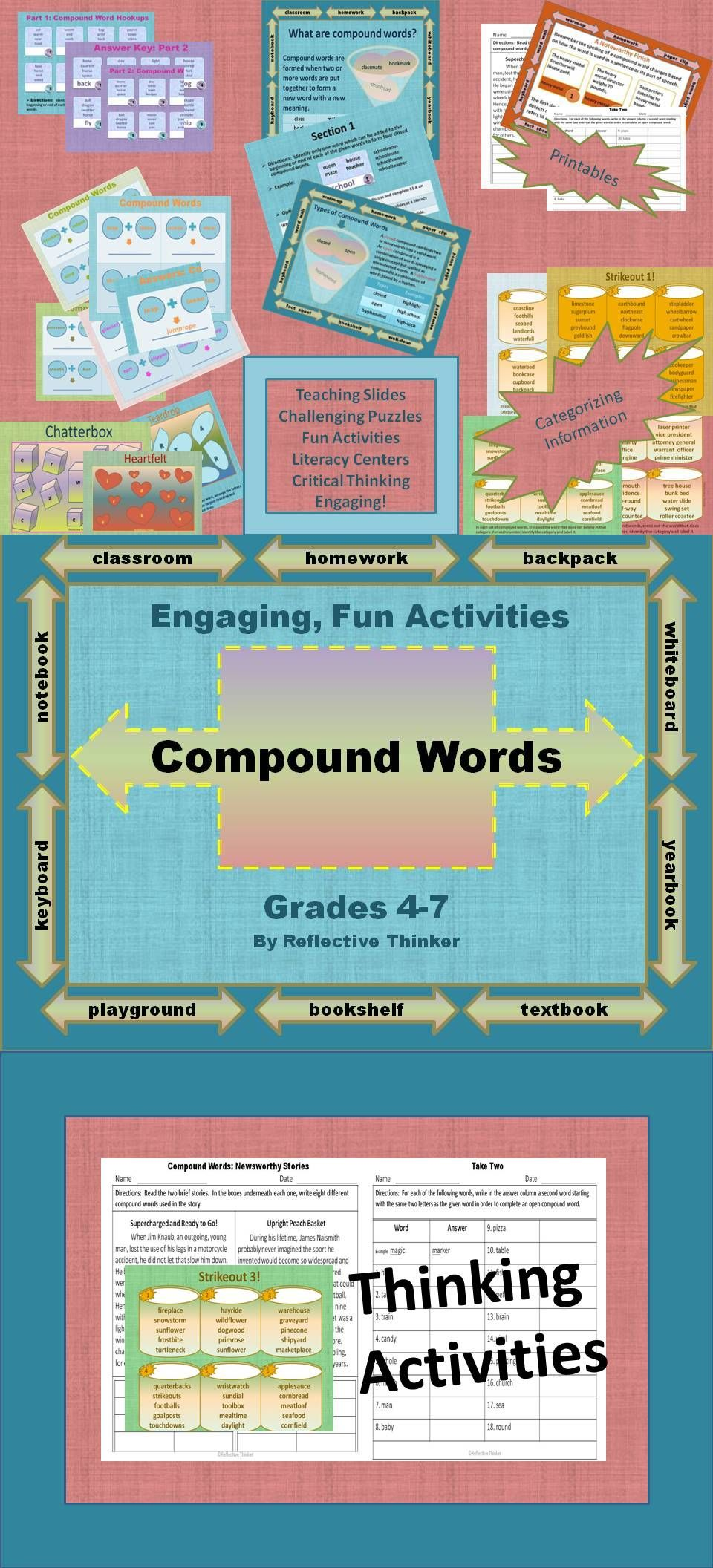 Compound Words No Prep Resource Fun, Engaging Thinking