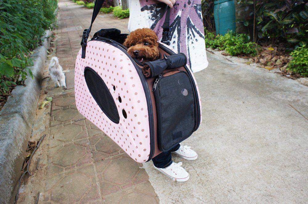 Petzip Fs1211B Mochi Pet Carrier/Stroller Small Beige