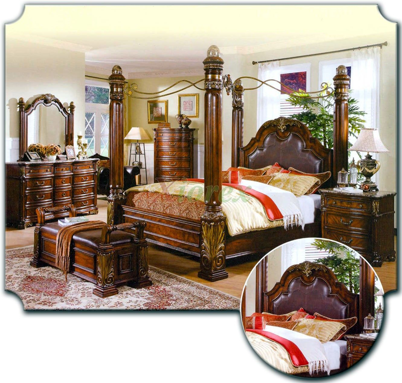 Best Canopy Bed Sets Bedroom Furniture Sets W Poster Canopy 640 x 480