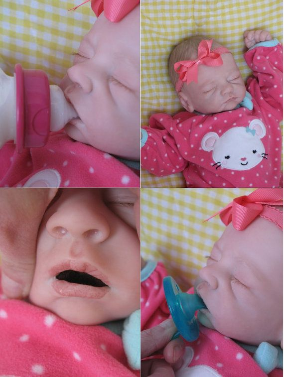 OPEN MOUTH reborn baby girl Holds a full by simplysweetbundles - baby born küche