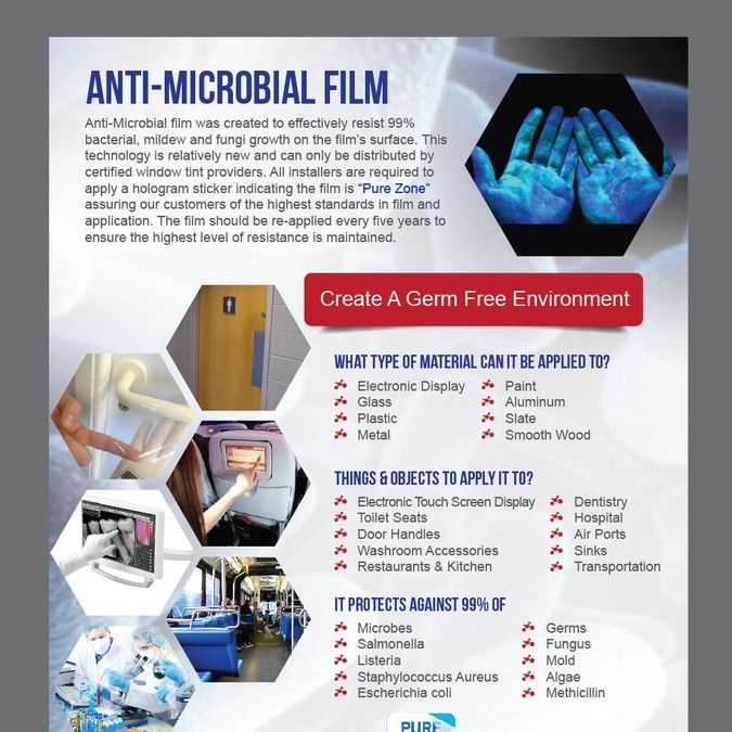 Anti Microbial Window Film Flyer By D Design