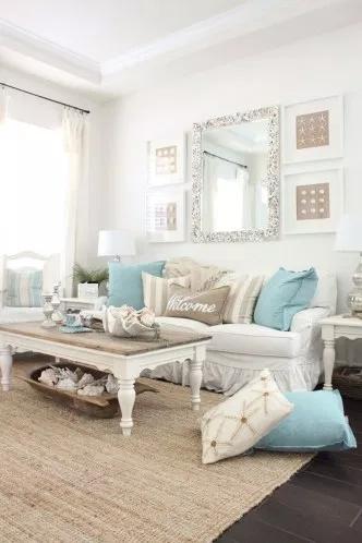 42 Amazing Coastal Living Room Decoration Ideas You Must Try #coastallivingrooms