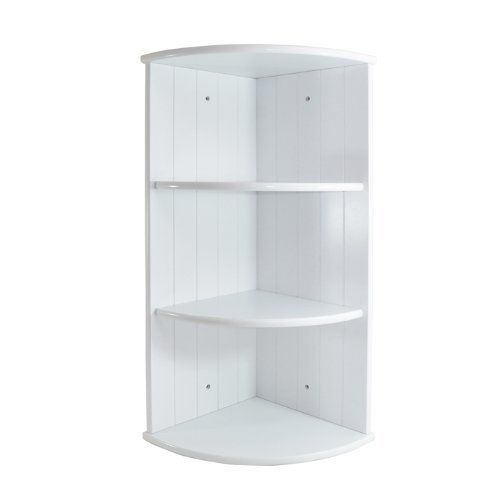 3 Shelf Tier Wall Mountable Curved Bathroom Corner Shelf Unit ...