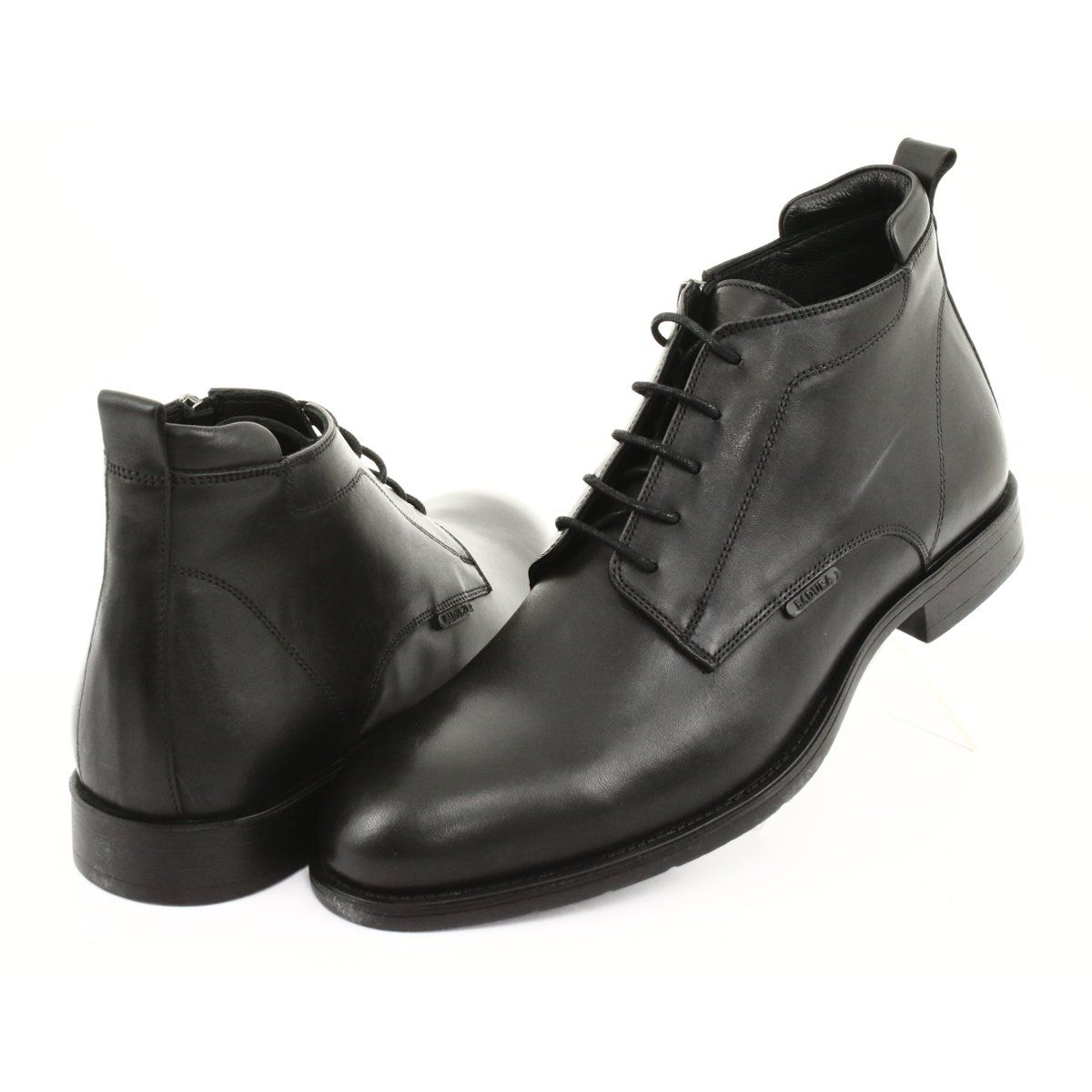 Botki Sztyblety Zimowe Badura 4775 Czarne Winter Boots Chelsea Boots Men Dress Shoes Men