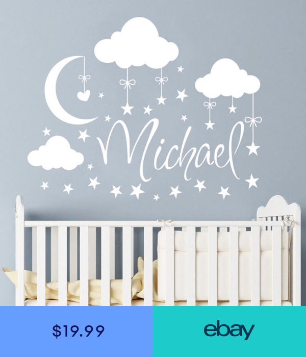 Wall Decal Boy Clouds Moon