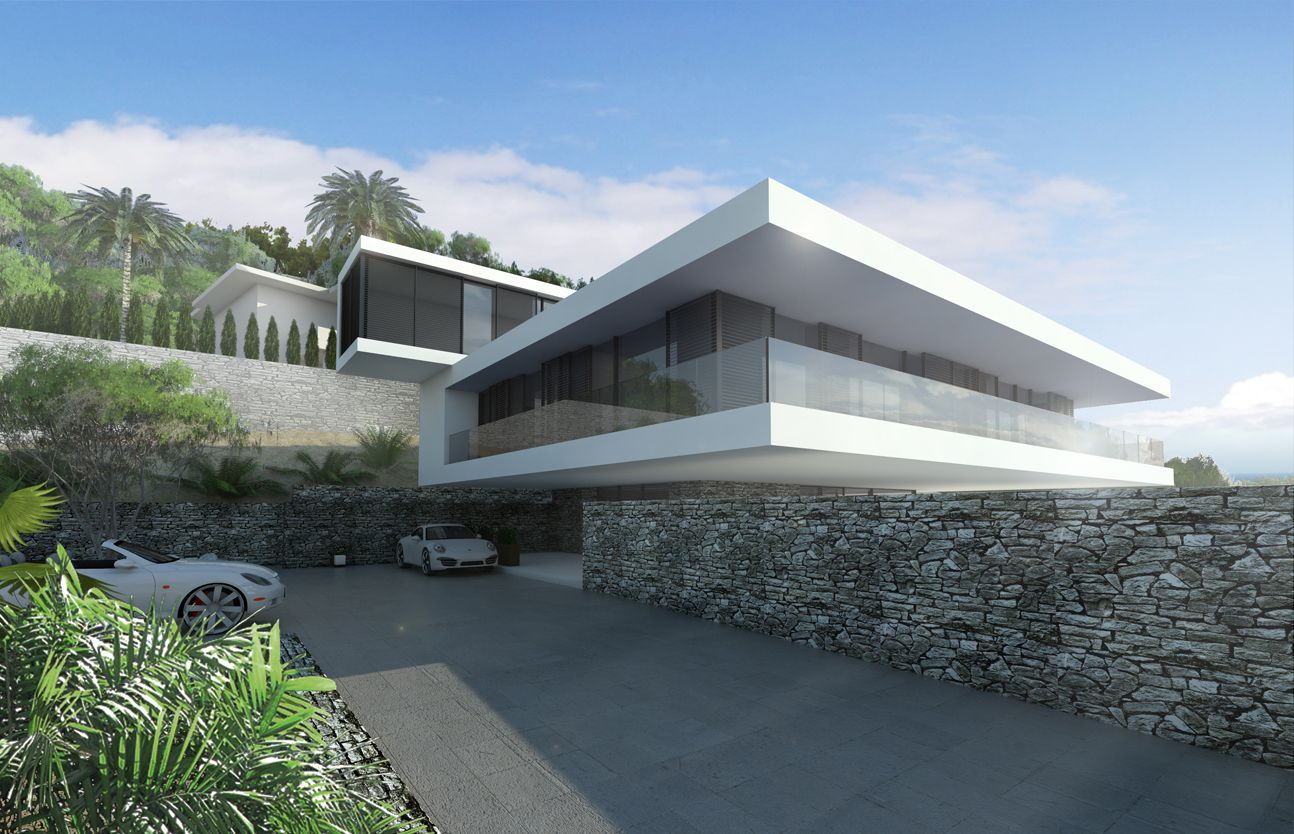 Villa2 in altea spain total area 350 m2 location altea hills alicante spain type private villa stage project year 2014