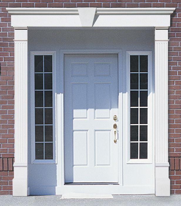 Vinyl Door Surrounds Vinyl Door Trim Vinyl Door Molding Accent Building Products Exterior Door Trim Georgian Doors Door Header