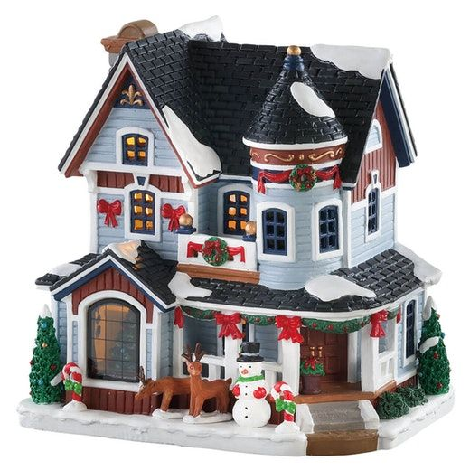 Lemax Christmas Village Michaels.Lemax Christmas Residence Sku 85389 Released In 2018 As A