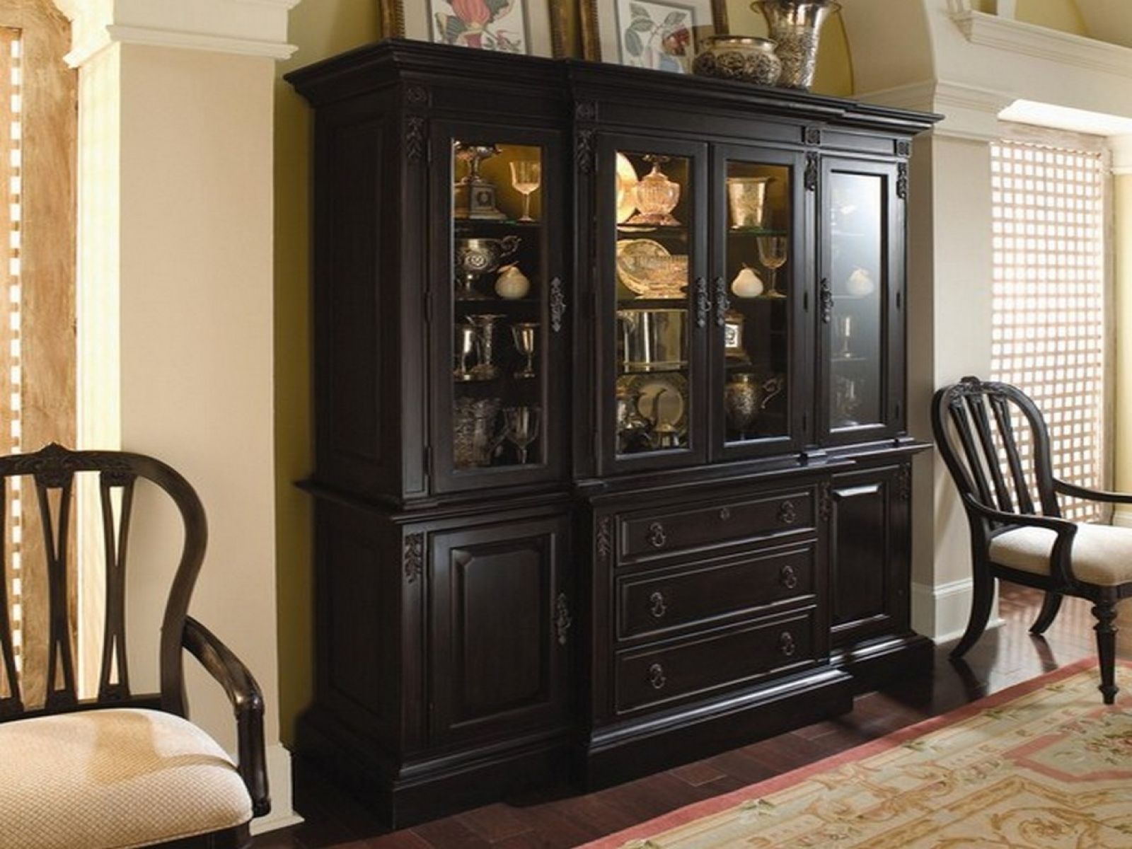 black dining room storage cabinet best theme the quot chair covers