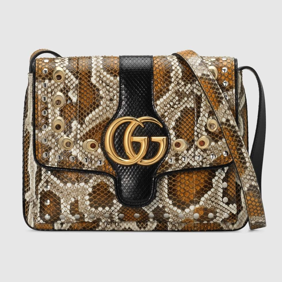 dc55a584921 Shop the Arli snakeskin medium shoulder bag by Gucci. A reference to the  rock inspiration behind the Cruise 2019 collection