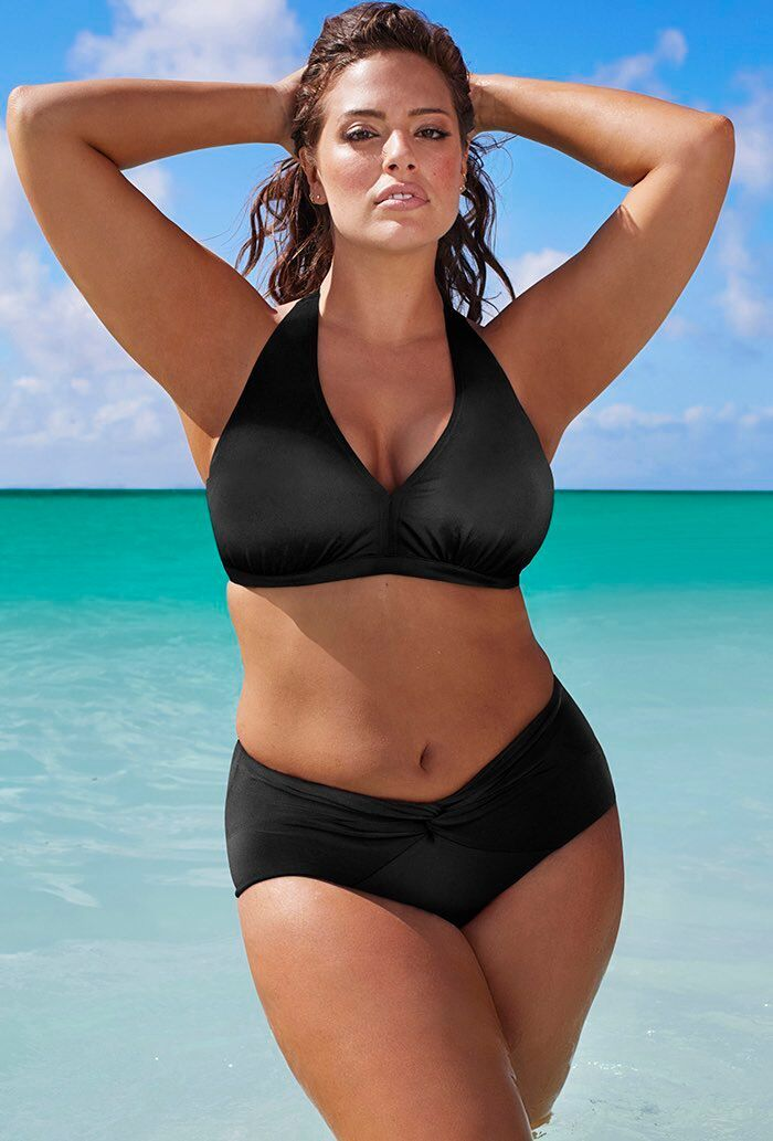 b58dcec01 Diva Black Halter Twist Front Bikini | DR | Ashley graham, Swimsuits ...