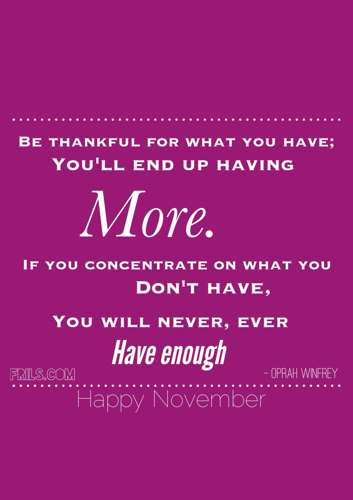 Time to be thankful!