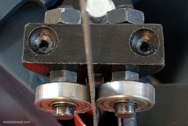 4x6 bandsaw blade guides ball bearings modification ...