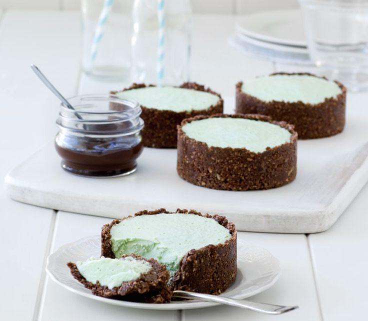 Peppermint Cream Pies Food Raw Dessert Recipes Gluten Free
