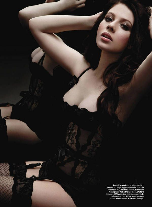 Michelle Trachtenberg in lingerie for Maxim photoshoot