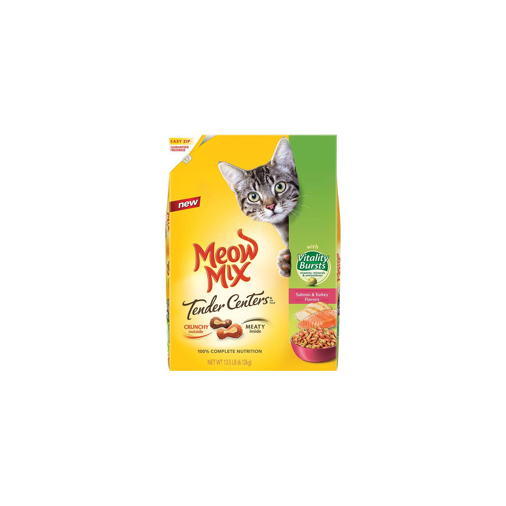 Meow Mix Tender Centers With Vitality Bursts Adult Cat Food Size