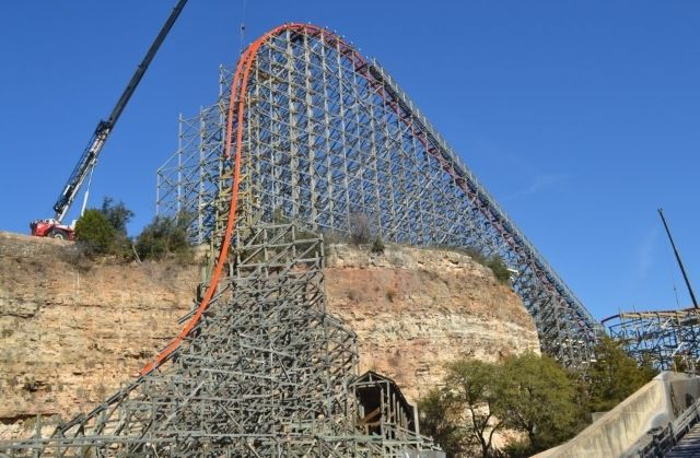 First Drop On The All New Iron Rattler At Six Flags Fiesta Texas Looks Incredible Six Flags Fiesta Texas Vacation Trips Fun Places To Go