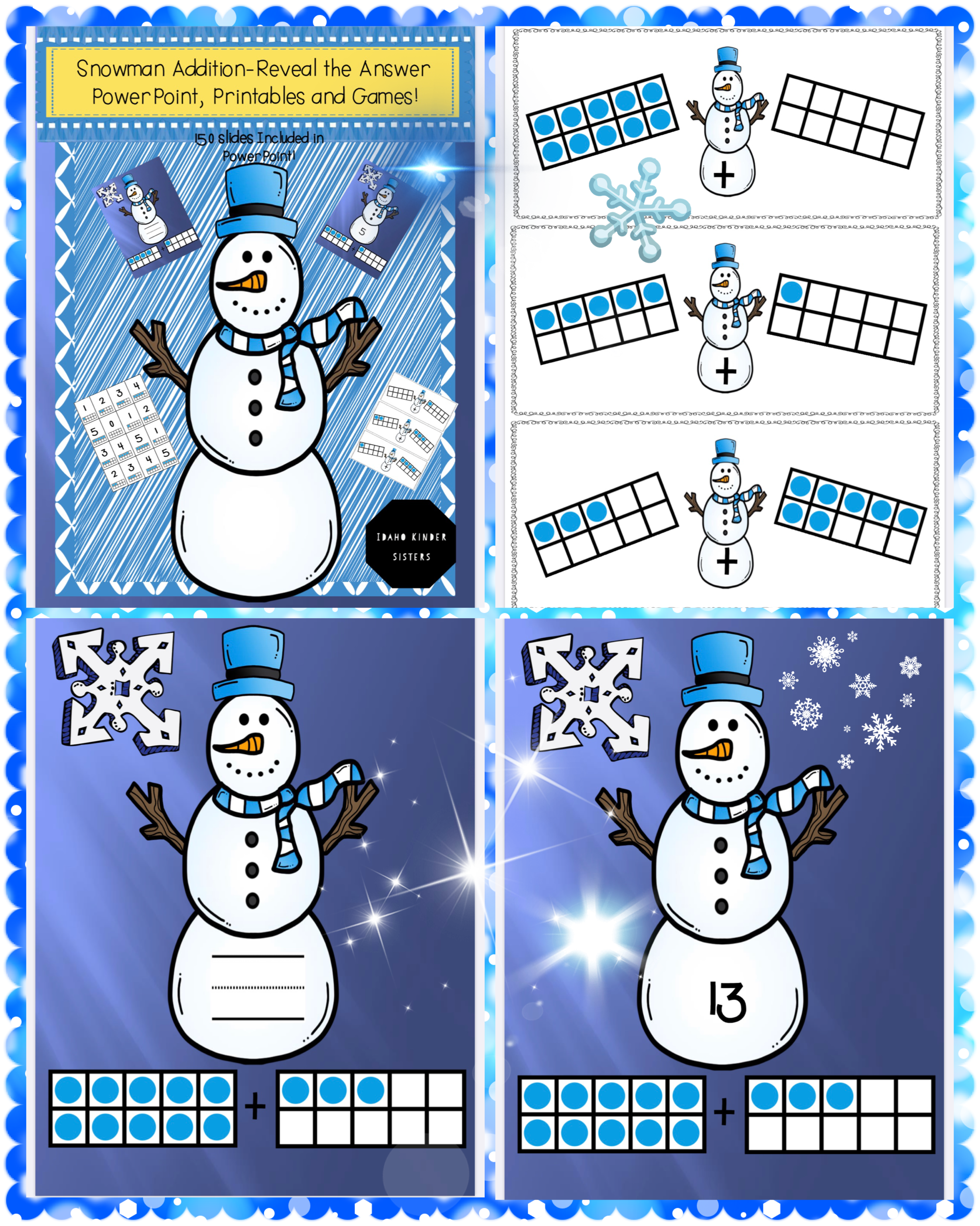 Snowman Addition Powerpoint Printable S And Games In
