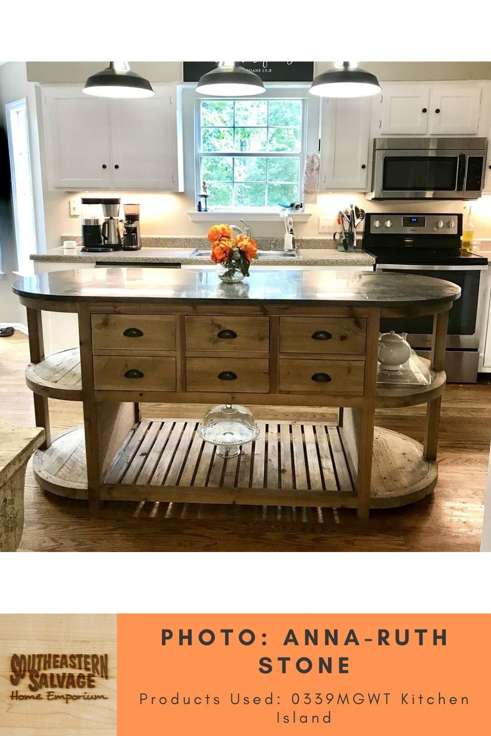 Kitchen By Anna Ruth Stone Reclaimed Wood Kitchen Island Southeastern Salvage Home Emporium In 2020 Wood Kitchen Wood Kitchen Island Reclaimed Wood Kitchen Island