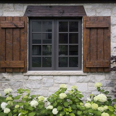 Stained Shutters Design Ideas Pictures Remodel And Decor Shutters Exterior Windows Exterior House Shutters