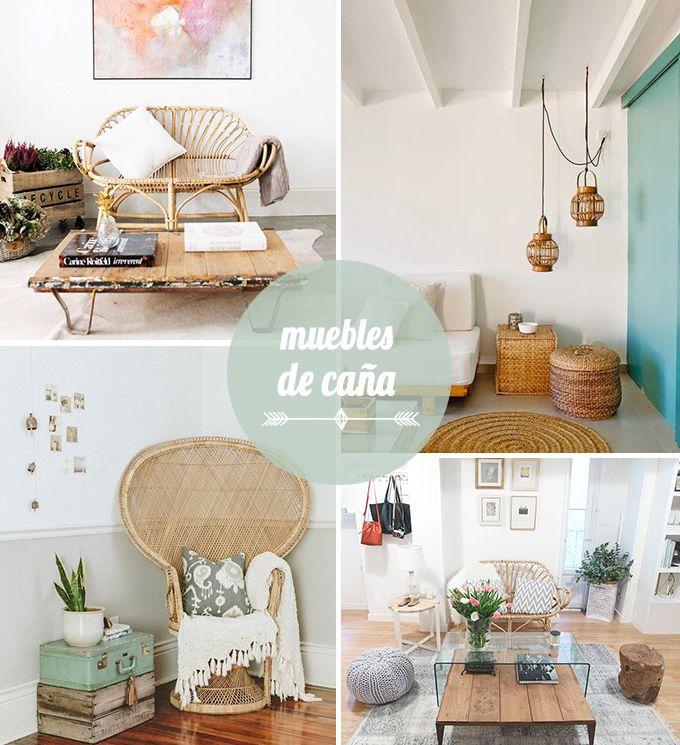 decoración con muebles de caña | Cañas, Salón y Muebles de caña