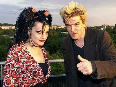 Nina Hagen and Campino of Die Toten Hosen