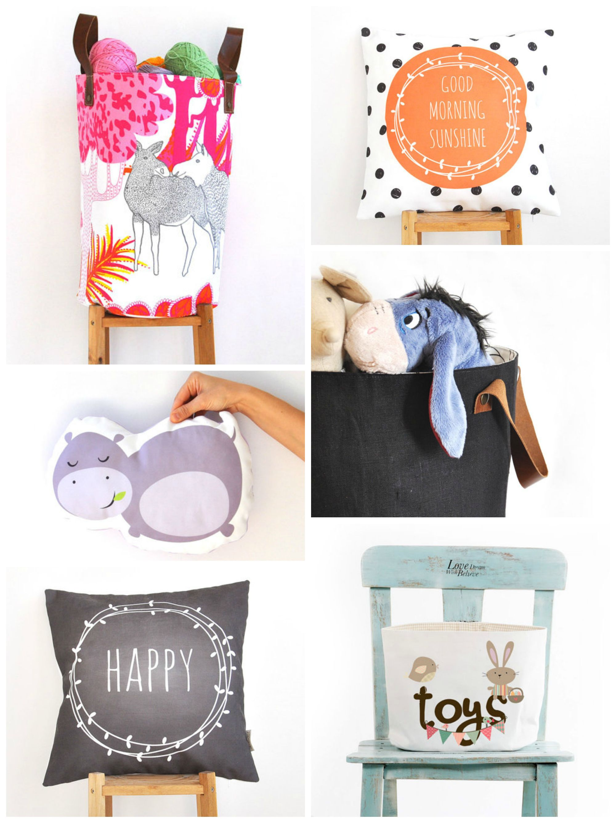Easy and cute storage & decorations to match your house! Love the fashionable toy basket - Farm & Pretty www.farmpretty.com