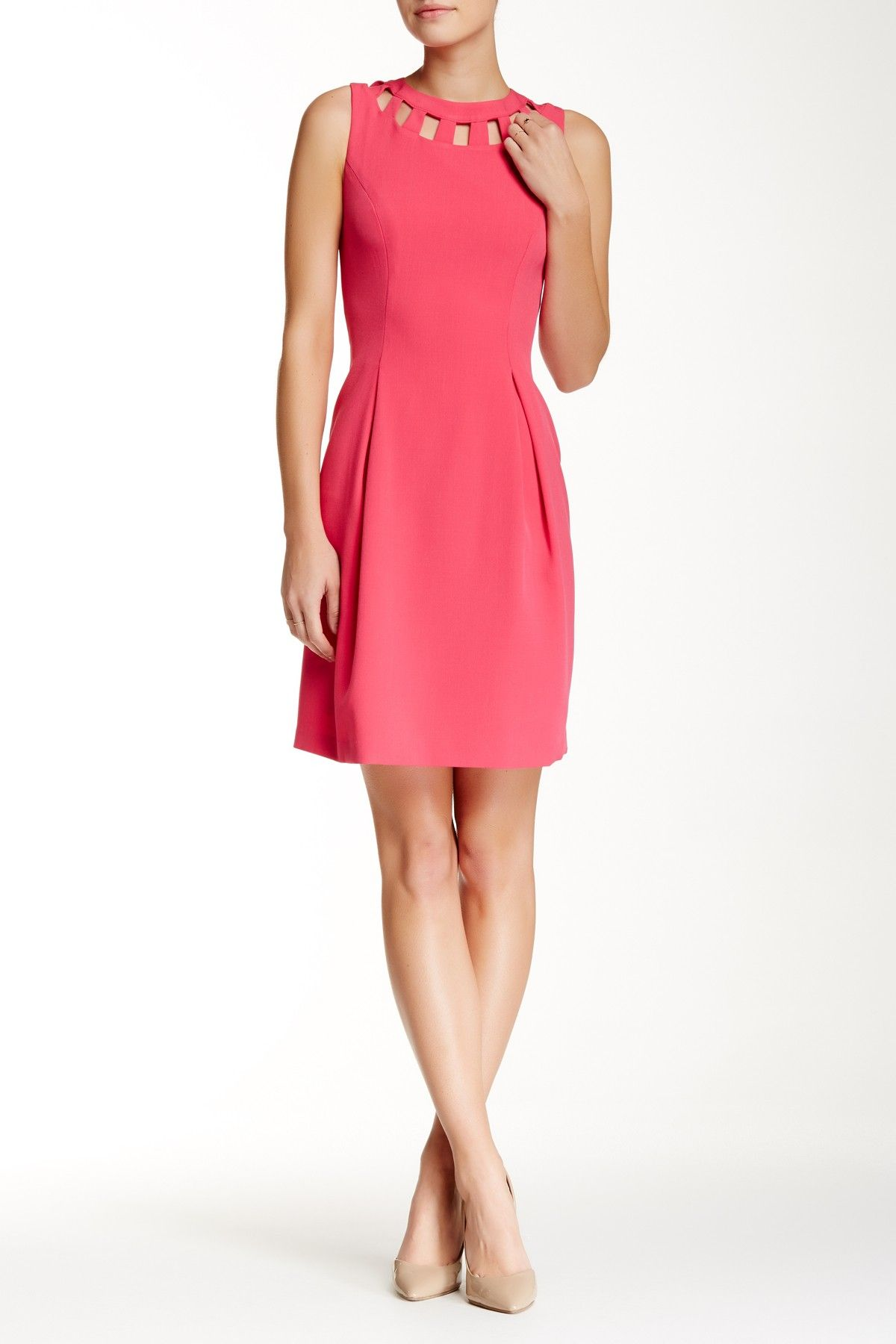 Cutout bistretch flare dress pinterest nordstrom stretches and