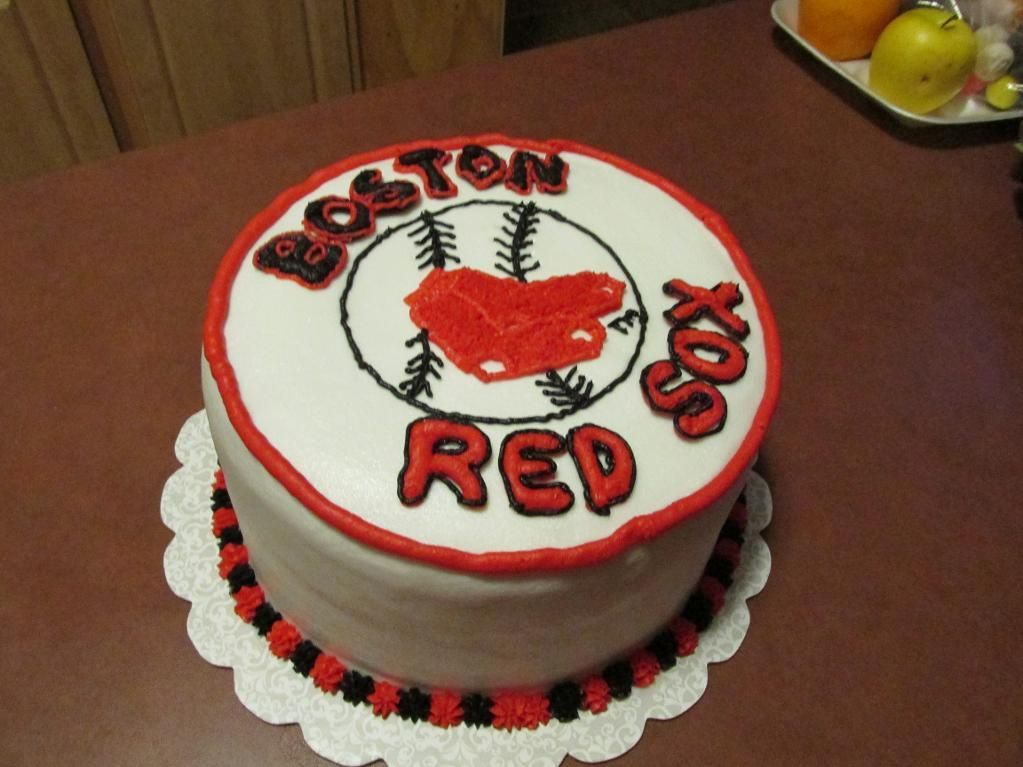 Red Sox Cake Boston Teams Pinterest Red Sox Cake Red