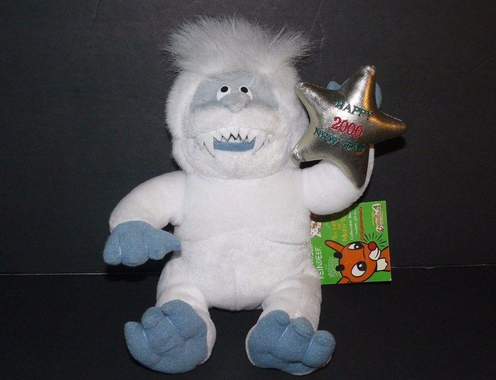 AbominableSnowman Stuffins Bean Bag Plush Happy 2000 New