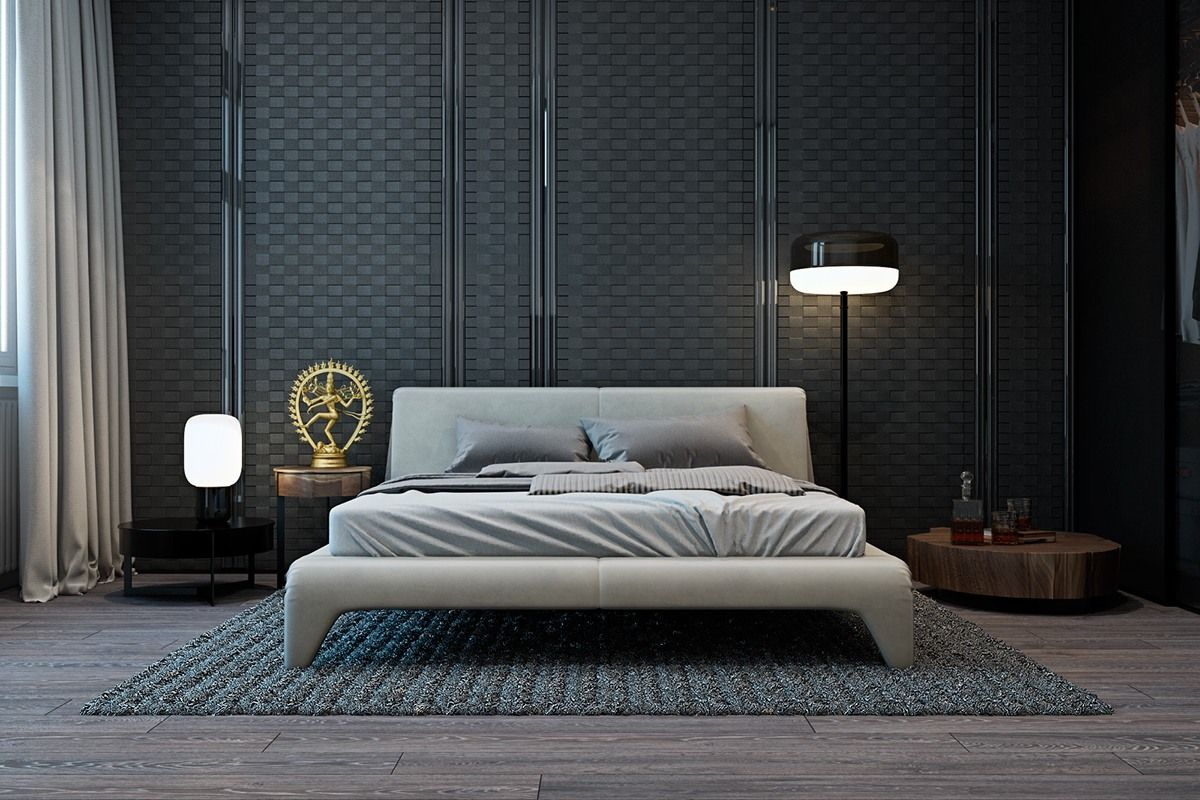 Apartment bedroom modern - Gorgeous Dark Bedroom Designs With Minimalist And Playful Approach Themes Decor To Inspire Sweet Dreams