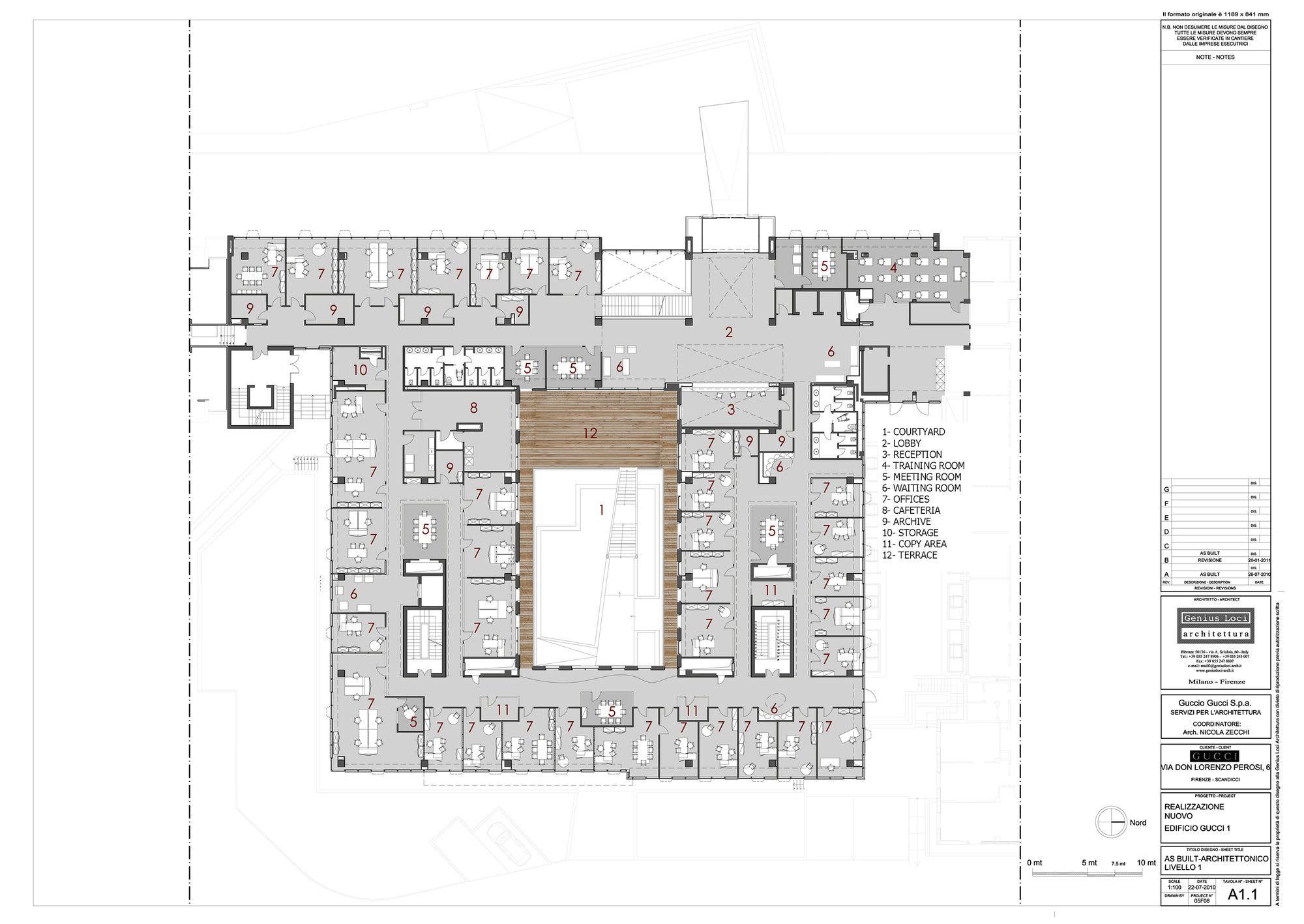 Gallery Of Gucci Headquarters Genius Loci Architettura 13 Genius Loci Floor Plans Office Floor Plan