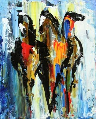abstract horse art on Pinterest | Horse Paintings, Oil ...