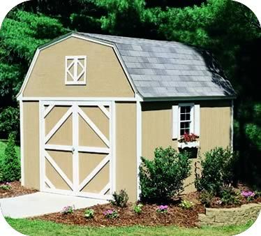 Handy Home Berkley 10x12 Wood Storage Shed W Floor Storage Shed Kits Shed Kits Shed Plans