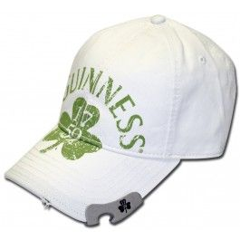 870c77042d4 Get your Irish on with this Guinness beer green shamrock baseball cap! The  distressed logo on the front looks stellar over the clean white background.