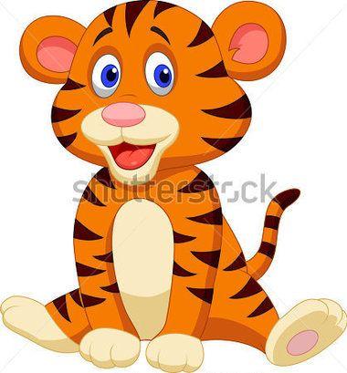 Caricatura Lindo Bebé Tigre vectores en stock - Clipart.me ...