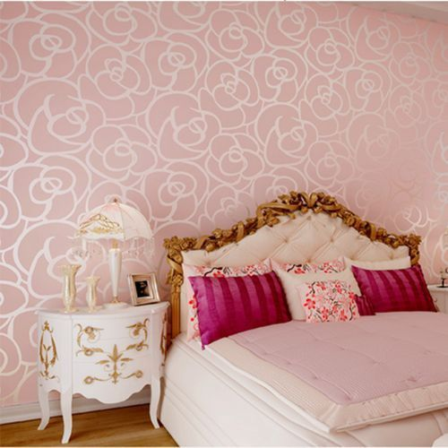 Luxury Modern Wall Paper Wallpaper Roll 3 Colors Gold Beige Pink 3d