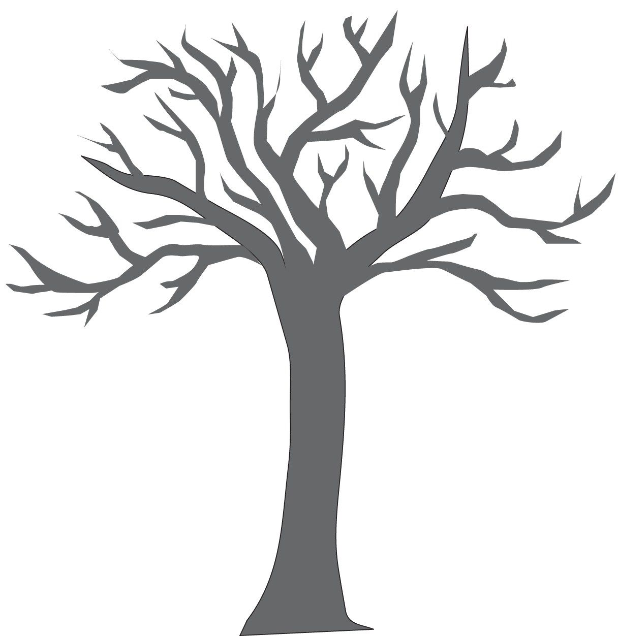 Bare Tree Option Tree Drawing Mural Coloring Pages