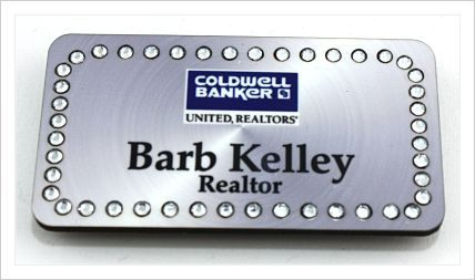 Check out Barb, with this stylish Silver Rectangle Bling