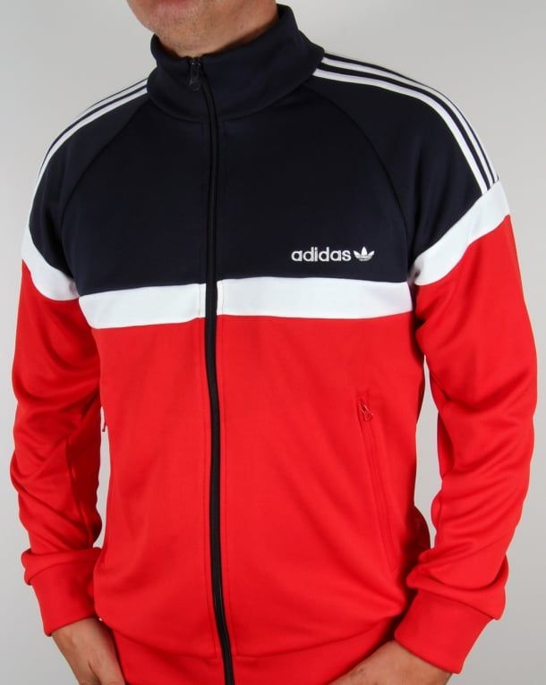 Adidas Originals Itasca Track Top RedNavy | Sweater outfits