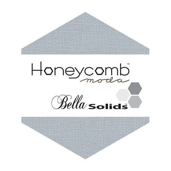 Moda Bella Solids SILVER HONEYCOMB 42 6 Hexagons by donellefritz, $13.23